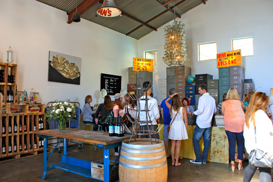 Municipal Winemakers tasting room, Santa Barbara.