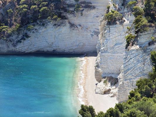 Zagare's Bay is in the Puglia region of Italy. Photo courtesy of Aria Luxury Apulia.