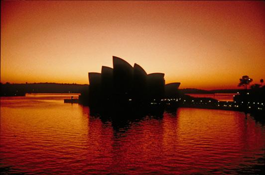Sunrise on the Sydney Opera House.