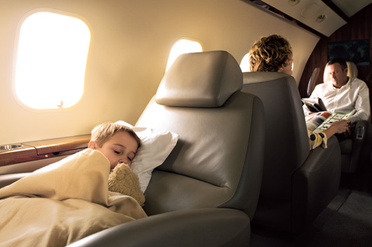 FlexJet takes the hassles out of family travel. Photo credit: FlexJet.