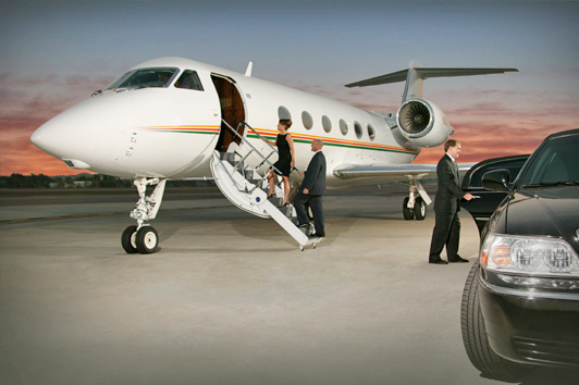 Renting a private jet means not having to wait in long lines at the airport. Photo credit: JetSource.