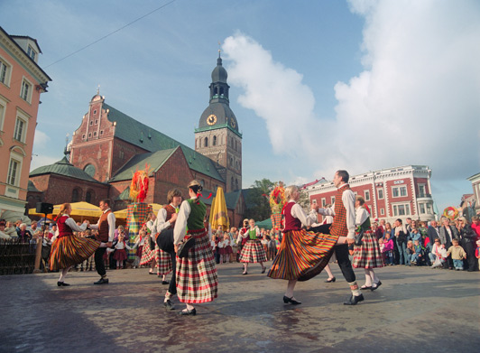 After a long dark winter, locals welcome visitors to help them  celebrate the summer solstice - the longest day of the year. Jani is the most popular of the national holidays in Latvia.