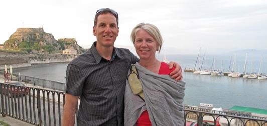 Helena and Dino explored Corfu before walking Vikos Gorge.