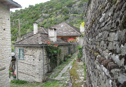 "Kapesovo is a ""stone village"" near the Vikos Canyon in northern Greece."