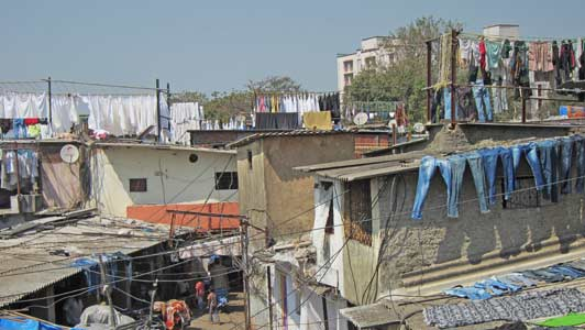 Our private Mumbai guide introduced us to Dhobi Ghat.